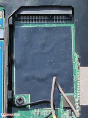 The mSATA slot enables installing a corresponding solid state drive.