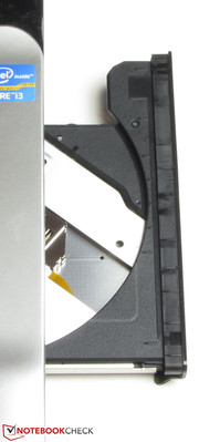 The DVD drive reads and writes all sorts of DVDs and CDs.