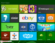 Acer includes various apps.