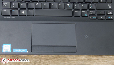 Touchpad with dedicated keys