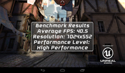 The test results from the Epic Citadel graphics benchmark...