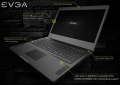 EVGA SC17 4K-ready gaming laptop with i7 6820HK and GeForce GTX 980M