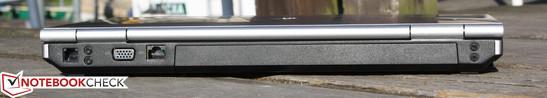 Rear: Modem RJ-11, VGA, Ethernet RJ-45