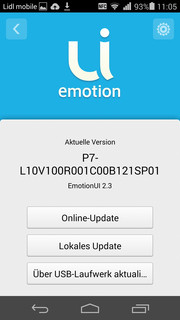 Huawei installs Android 4.4.2 KitKat with its proprietary EmotionUI version 2.3.