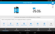 The energy manager delivers rather accurate battery runtime predictions.