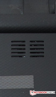 The speakers are located on the underside of the case.