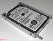 Both thick (9.5 mm) and thin (7 mm) hard drives fit within the HDD cage.