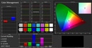 Color accuracy (calibrated, target color space sRGB)