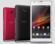 The Xperia SP is available in red, black, and white.