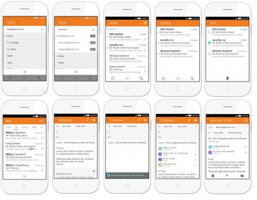 Firefox OS 2.0 Email screens