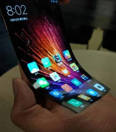Flexible Xiaomi touchscreen display spotted online