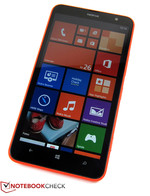 The Nokia Lumia 1320 features a very rigid build.
