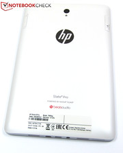 Black front, white back: This is the only available color combination for the HP Slate 8 Pro.