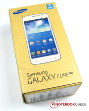 The box of Samsung's Galaxy Core LTE SM-G386F includes...
