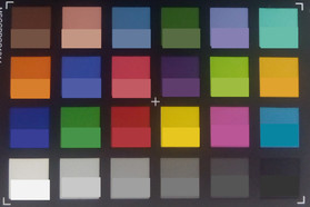 Screenshot of ColorChecker colors. Original colors are displayed in the lower half of every field.