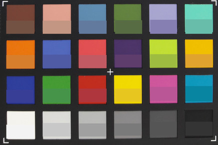 Screenshot of ColorChecker colors. Original colors are displayed in the lower half of every patch.