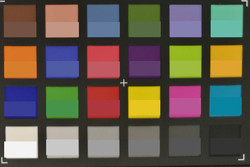 ColorChecker Passport: The target color is displayed in the bottom half of each patch.