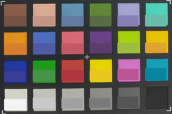 ColorChecker main camera: The original colors are displayed in the lower half of each patch.