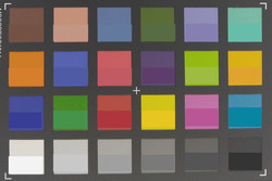 Screenshot of ColorChecker colors: Original colors are displays in the lower half of every field.