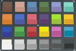 ColorChecker Passport: The target color is displayed in the lower half of each patch