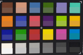 ColorChecker colors: Target colors are displayed in the lower half of each patch.