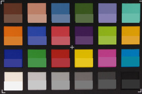 Picture of the ColorChecker colors. The reference color is displayed in the bottom half of each patch.