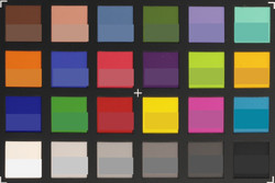ColorChecker: The actual color is displayed in the lower half of each patch.