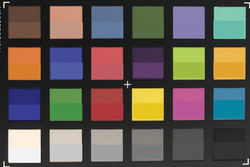 ColorChecker Passport: the reference color is displayed in the lower half (wide angle)