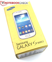 The box of Samsung's Galaxy S Duos 2 GT-S7582 includes...