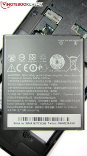 ...gives access to the replaceable 7.98 Wh battery.