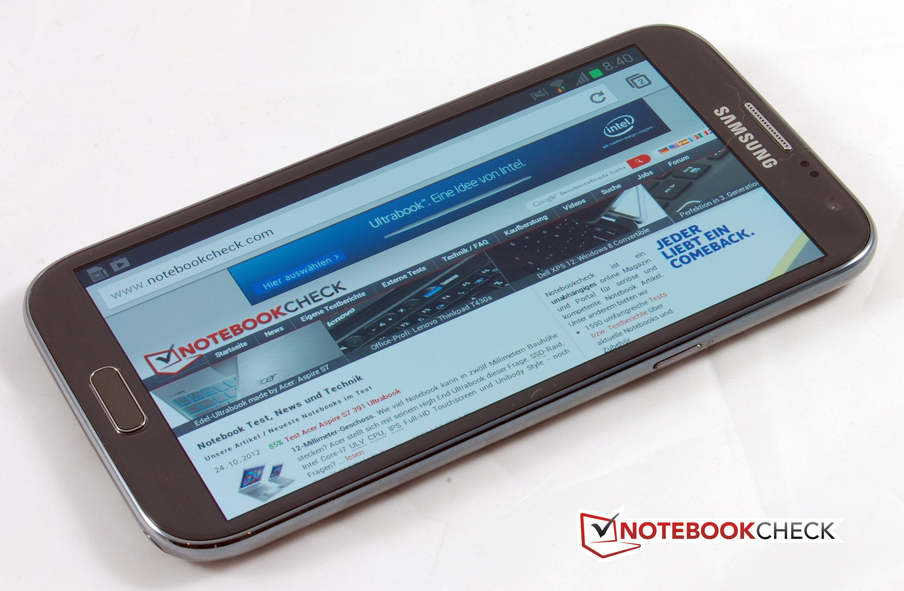 Review Samsung Galaxy Note II GT-N7100 Smartphone