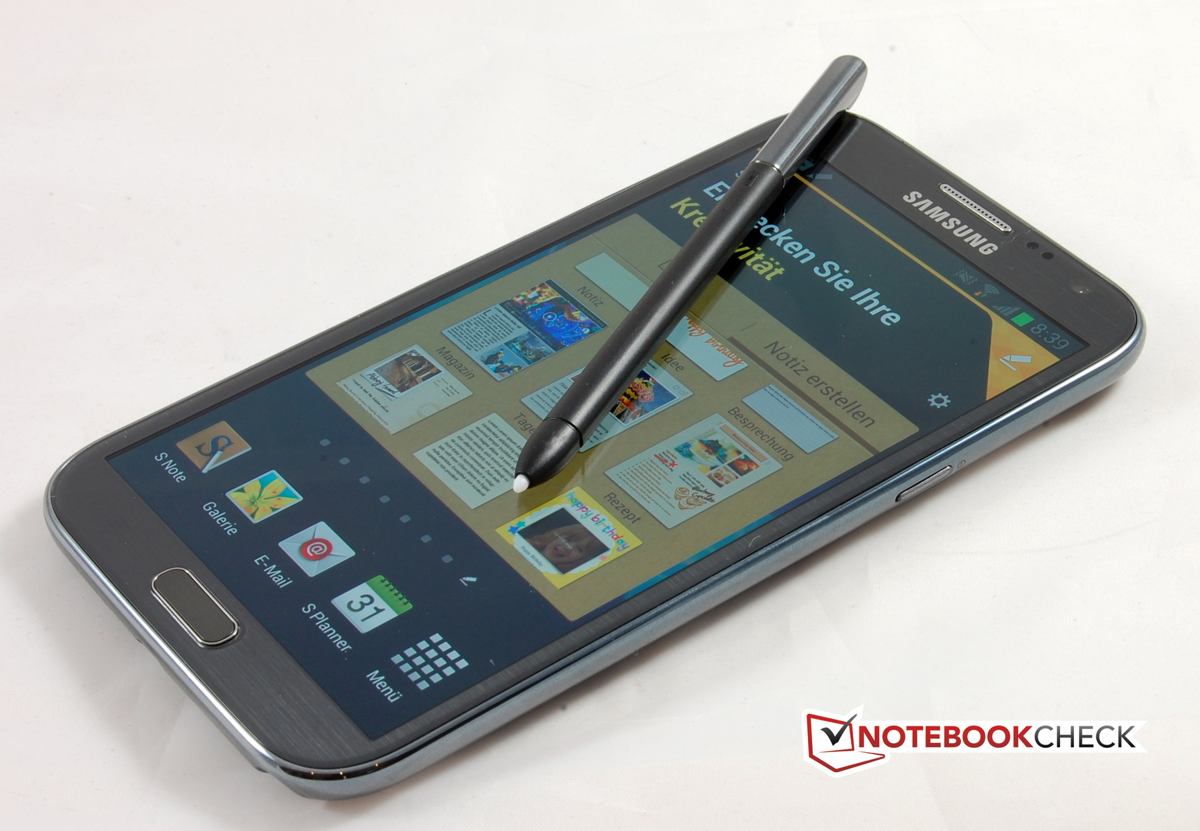 Review Samsung Galaxy Note Ii Gt N7100 Smartphone Notebookcheck Circuit Board 2 Best Durable Case Cell Phones The S Pen Works Perfectly