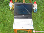 Lifebook in use outdoors