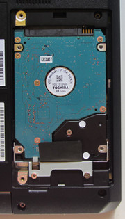 The hard drive is quick to replace.