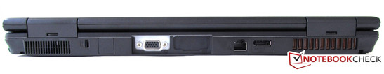 Rear: VGA, RJ45 (LAN), display port