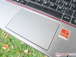 The touchpad is compelling, although the surface is completely sleek.