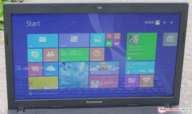 The Lenovo G510 outdoors