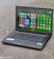 The Lenovo G710 outdoors.