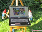 The Lenovo notebook is only suitable for outdoor use within limits