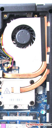 Two heat pipes are used inside the G770