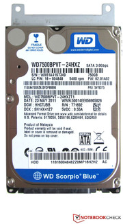 The integrated 750 GByte hard drive