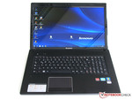 Black 17 inch notebook from Lenovo