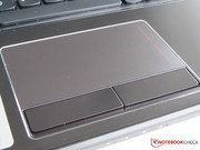 Large touchpad with two buttons