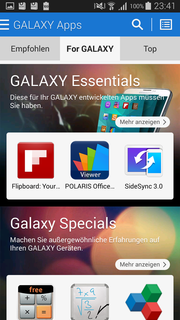…apps specially made for Galaxy smartphones.