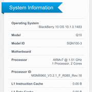 Geekbench 2 system information.