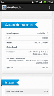Geekbench 2 benchmark system information.