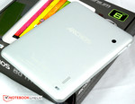 The back of the Archos 80 Titanium is made of aluminum.