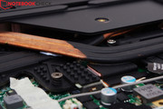 The heat pipes of the CPU and GPU run separately.