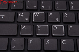 The white rim on the WASD keys facilitates finding them when using key combinations.