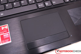 The touchpad is small, but very responsive.